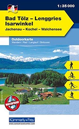 Outdoorkarte 04 Bad Tölz - Lenggries, Isarwinkel 1 : 35.000: Wandern, Rad, Langlauf, Skitouren. Jachenau, Kochel, Walchensee (Kümmerly+Frey Outdoorkarten Deutschland)