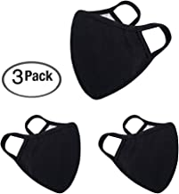 Anti Flu and Saw Dust Masks - Reusable Cotton Comfy Breathable Safety Air Fog Respirator - for Outdoor Half Face Masks - Protection Pollution Face Flu Allergens Masks for Women Man Black