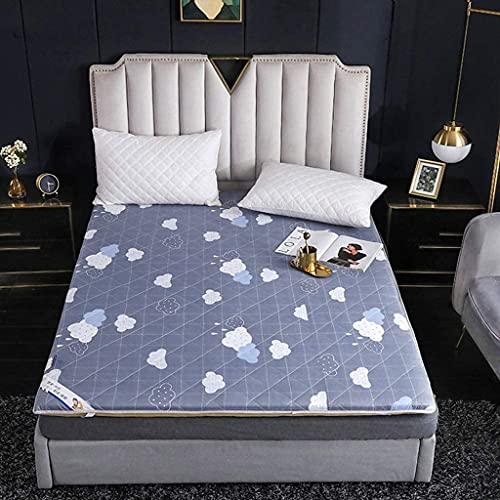 Colchones Colchón plegable de dormitorio, colchón de piso japonés Futon Colche, espesado Tatami Mat Durmiendo, Roll Up Memory Foam Japonés Futon Colchones, Lavable a la máquina Textiles del hogar