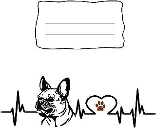 Composition Notebook: French Bulldog Heartbeat EKG Heart Line