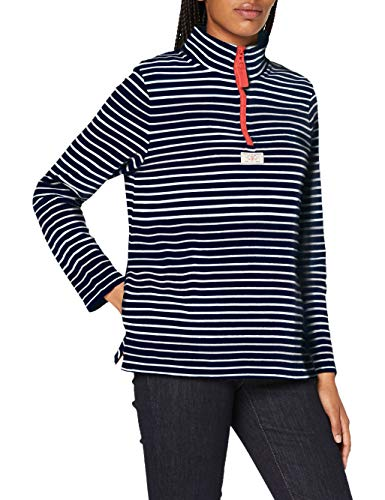 Joules Women's Pip Pullover Sweater, Navy Cream Stripe, 10