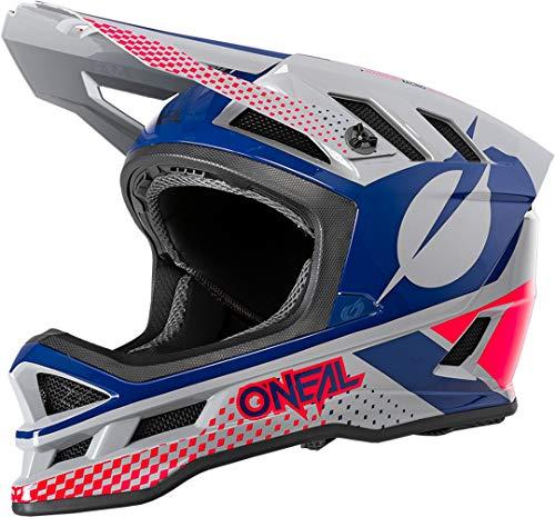 O\'NEAL   Mountainbike-Helm   MTB Downhill   Dri-Lex® Innenfutter, Ventilationsöffnungen für Kühlung, ABS Außenschale   Blade POLYACRYLITE Helmet ACE   Erwachsene   Grau Blau Rot   Größe M