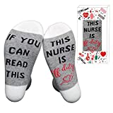 If You Can Read This Nurse Is Off Duty Unisex Funky Crew Socks White Angels Gift for Holiday