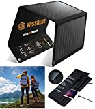 WISSBLUE Solar Panel Charger 22W 60W, Dual USB 2.4A 4.2A Fast...