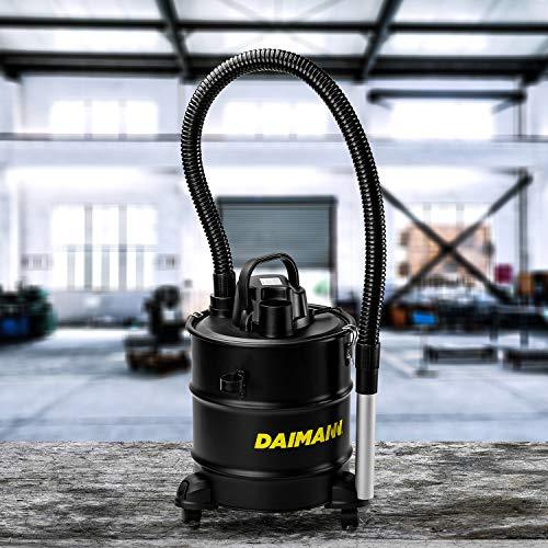 Ditch Aspiracenere da 20 Litri Aspira Cenere per Solidi e Liquidi con Filtro Hepa e Ruote 900W
