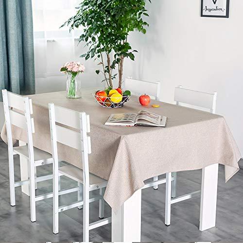 YHSW Waschbare Tischdecke aus Baumwollleinen, rechteckige Tischdecke, perfekt für die Küchendekoration Leinen 140 * 100cm