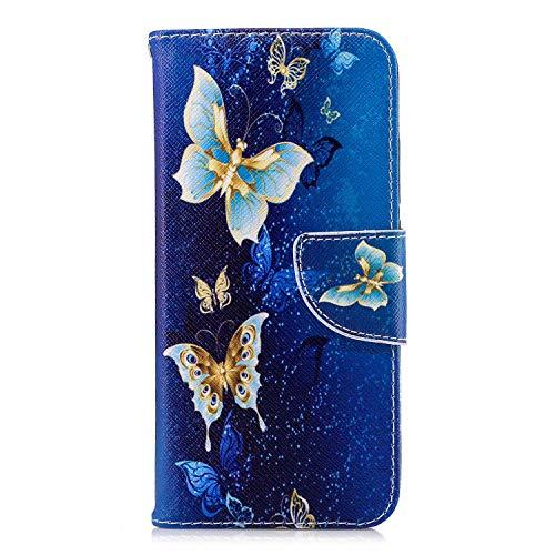 GIMTON Hülle für Huawei Honor 10, Schlagfestes PU Handyhülle mit Dünn und Flexibles TPU, Hochwertige Bookstyle Stil Schutzhülle für Huawei Honor 10, Muster 6