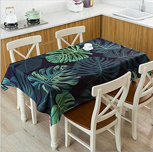 XXDD Tovaglie a Foglia Verde Articoli da Cucina Impermeabili Tavolino per Soggiorno Arredamento Tavolo da Pranzo Panno Impermeabile A3 140x200cm
