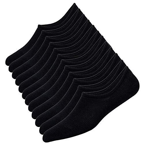 Puimentiua Chaussettes Invisibles Hommes en Coton Respirant Chaussette Basse Socquettes Courte Protège-Pieds Antidérapante EU 39-48
