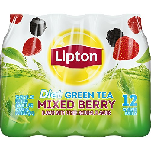Lipton Diet Green Tea with Mixed Berry (16.9 oz. bottles, 24 pk.) (Pack of 2)