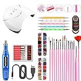 Woqook Práctico portátil Lámpara UV LED Kit de uñas secas Nail Art Manicure Set Herramientas de uñas de acrílico