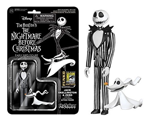 2014 SDCC Exclusive Nightmare Before Christmas Reaction Figure Jack Skellington with Zero and New Head by Reaction Figures