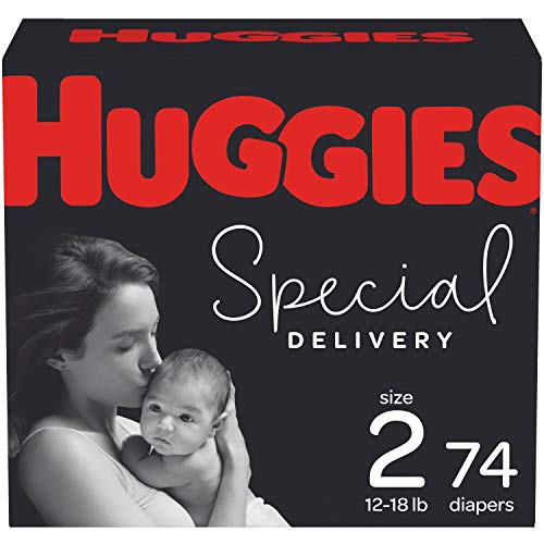 Hypoallergenic Baby Diapers Size 2, 74 Ct, Huggies Special Delivery