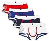 Tuopuda Calzoncillos para Hombre Ropa Interior Boxer Slip Algodón Pack de 4 (L (Waist = 30-32 Inch), Solid Colors)