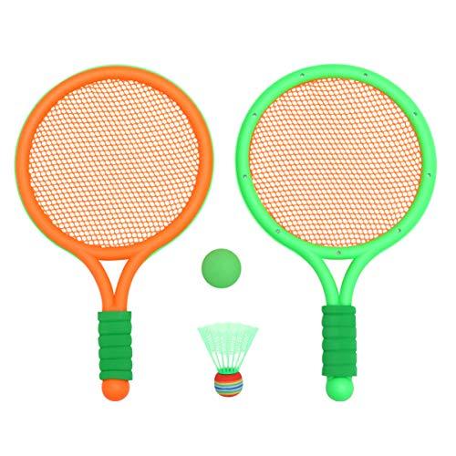BESPORTBLE Tennisschläger Ballset Badmintonball für Kinder Outdoor-Sport Tennisschlägersets Strandspielspielzeug für Kinder