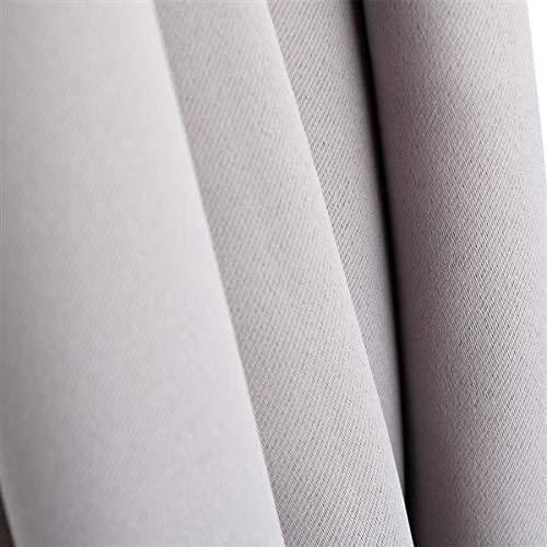 Yaheetech 4er Set Vorhänge Gardine Verdunklungsgardine Thermovorhang Verdunklungsvorhang 135 x 245 cm für Büro, Schlafzimmer, Wohnzimmer