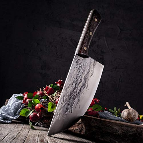 Forja de cuchillos de carne de carnicería tradicional chino matanza cuchillos de carnicero cuchillo cortador cuchillo accesorios de cocina hechos a mano