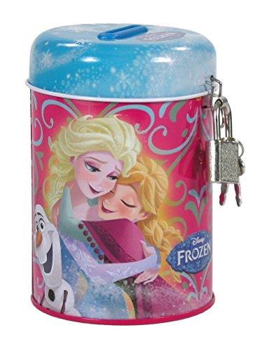 Maxi & Mini - Salvadanaio con lucchetto in metallo con chiusura, motivo: Frozen