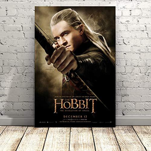 Legolas Der Hobbit 2 Movie Poster Leinwand Tuch Drucke Für Wohnzimmer Dekor Gemälde 40X60 cm Ohne Rahmen
