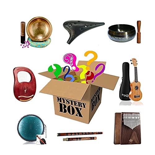 YUNSHAO Scatole Fortunate Blind Box of Musical Strument, Eccellente Rapporto qualità-Prezzo, c è La possibilità di Aprire: Tamburo della Lingua d Acciaio, Tamburello, Ukulele, Ciotola di Canto