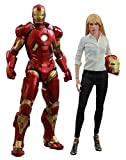 Iron Man 3 Movie Masterpiece Pepper Potts and Mark IX Armor Collectible Figure