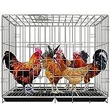 Poulailler, Grand Poulailler, Cage À Volaille Pliante Domestique, Facile À Plier Et À Installer Cage À Volaille Pour 4-6 Poules Poulailler De Luxe Avec Accessoires ( Color : Black-100x60x70 cm )