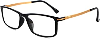 Blue light blocking Eyewear screen eyewear protects the eyes Glasses Plastic steel Frame for workplace and office, game, computer, reading glasses Black Frame Gold