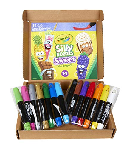 Crayola Silly Scents Gel Crayons, Scented Crayons, 14 Count, Gift for Kids, Age 3, 4, 5, 6