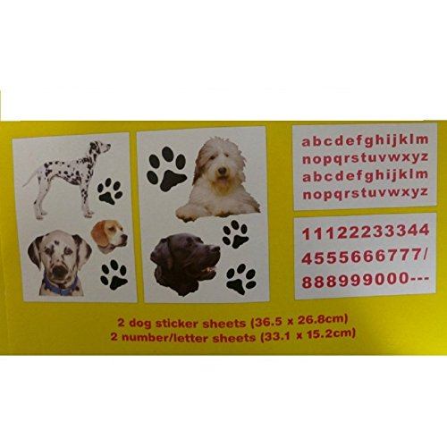Jouet boîte Nursery Stickers Craft – Chiens 120 Stickers.