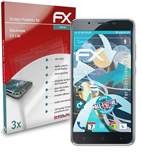 atFolix Schutzfolie kompatibel mit Blackview P2 Lite Folie, ultraklare & Flexible FX Bildschirmschutzfolie (3X)