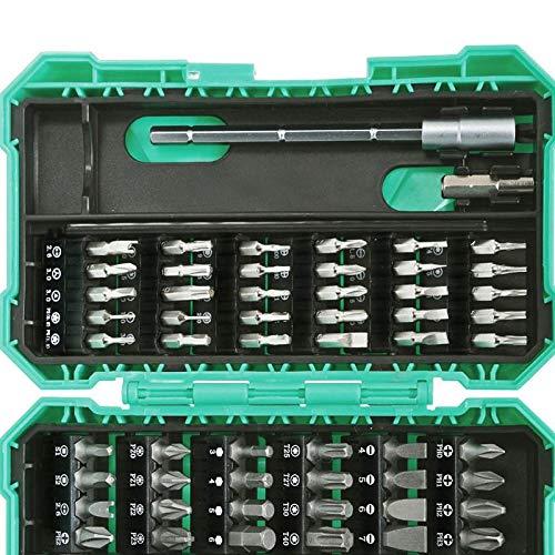 Schroevendraaierset 57 in 1 SD-9857M precisieschroevendraaier boor uitbreiding adapter boor reparatie handgereedschap Blauw
