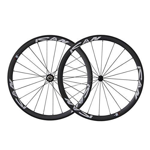 ICAN 700C Lightweight Road Bike Carbon Wheelset Clincher