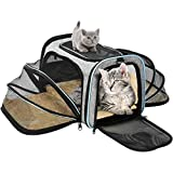 OMORC Pet Carrier Airline Approved, Expandable Foldable Soft-SidedDog Carrier, Cat Carrier with 3