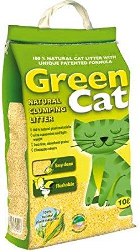 James and Steel Green Cat 100 Percent Natural Clumping Cat Litter 10 L