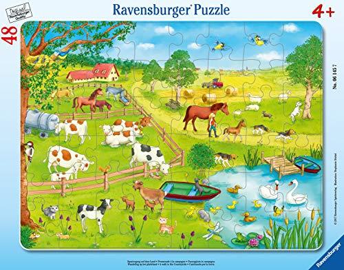 Ravensburger Kinderpuzzle 06145 - Spaziergang auf dem Land - Rahmenpuzzle