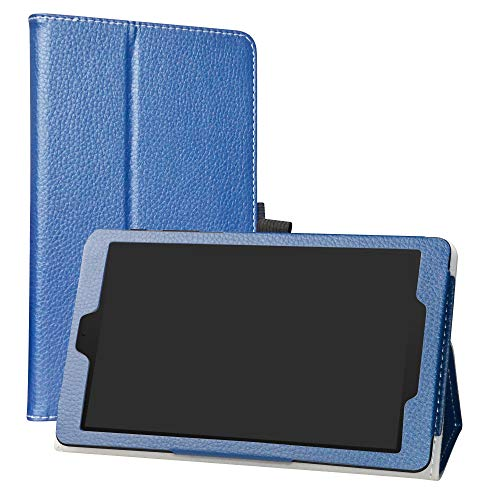 LiuShan Compatible with Alcatel Joy Tab Case, Alcatel 3T 8 Tablet Case,PU Leather Slim Folding Stand Cover for T-Mobile Alcatel Joy Tab 8-inch Tablet/Alcatel 3T 8-inch Tablet,Blue