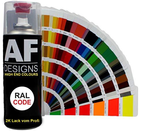 Alex Flittner Designs 2K RAL Lackspray Autolack Sprühdose Spraydose Kratzfest RAL9005 TIEFSCHWARZ seidenmatt
