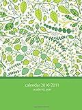 2010-2011 Academic POCKET Planner: green leaves