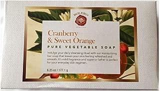 Bolero Cranberry & Sweet Orange Pure Vegetable Body Hand Soap - Moisturizing, Refreshing - Made in USA