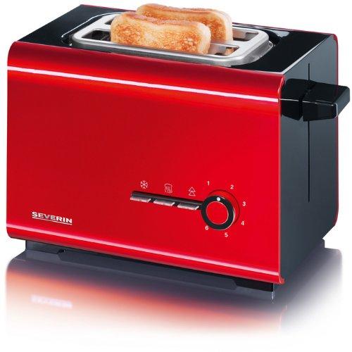 Severin AT 2507 Automatik-Toaster 900 W, rot/schwarz