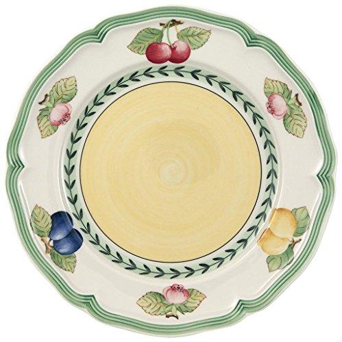 Villeroy & Boch - 10-2281-2640 - French Garden Fleurence Assiette de Petit-Déjeuner Ronde, Porcelaine Premium avec Motifs de Fruits Estivaux, Style Rural, 21 cm