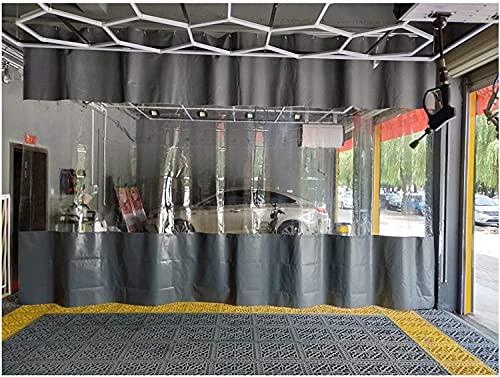ZHANGQINGXIU Lonas Impermeables Exterior,Cortina De Lona Para Exteriores Con Diseño De Pared, Panel De Plástico Transparente Cosido, Sin Sistema De Riel Resistente A La Intemperie Resistente A Los Ray