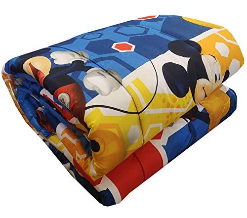 Edredón de invierno Disney – Marvel original para cama individual 1 plaza 170 x 260 cm niño niña (Disney Mickey Mouse)