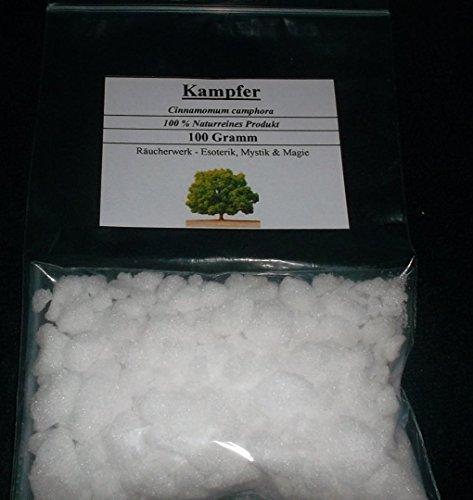 100 g de alcanfor, Campfer, 100% – sin aditivos químicos, sin conservantes.