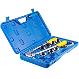 Wostore Tube Expander Tool Kit 3/8 to 1-1/8 Inches Aluminum Copper Pipe with Tube Cutter and Deburring Tool