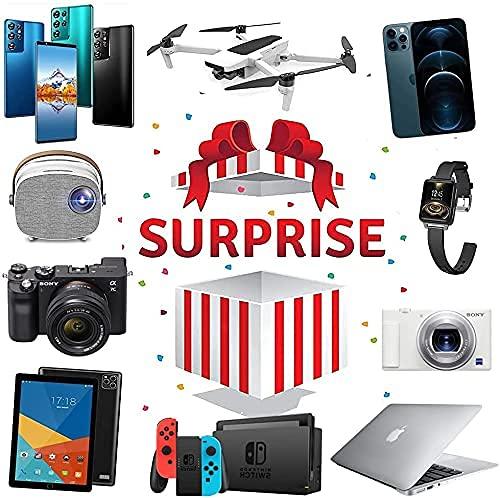 CarJTY Electronics Mystery Box, una Caja Sorpresa con una Buena relación Calidad-Precio, Que se Puede Abrir Tablet Pc Altavoz Bluetooth, Drones , Smartwatches etc. ¡Todo es Posible! -- Buena Suerte