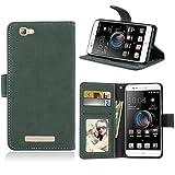 Ycloud Portefeuille Coque pour ZTE Blade A610 Smartphone, Mate Texture PU Cuir Flip Magnétique...