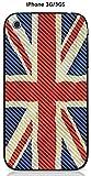 Onozo Coque Apple iPhone 3G / 3GS Design Drapeau Grande Bretagne Vintage Effet Carbone