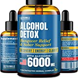Advanced Liver Detox & Hangover Cure with AlcoGene 6000MG - Great Hangover Prevention - Made in USA - Liver Cleanse & Alcohol Detox - Liquid Formula with Better Absorption Than Hangover Pills