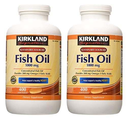 Kirkland Signature hgar Fish Oil Concentrate 2 Pack, 400 Count (Pack of 2)